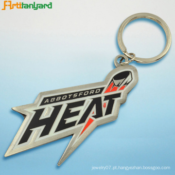 Suporte de chave de metal com logotipo personalizado