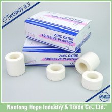 White colored adhesive zinc oxide tape for medical use