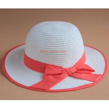 Chapeau de paille pour enfants avec Bowknot pour les filles mignonnes