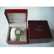 Caja de embalaje de encargo hermosa de la joyería del cuero de imitación para los relojes