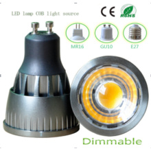 Dimmable 9W GU10 COB LED Ampoule
