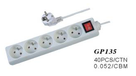 5 way socket power outlet