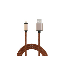 1m pu couro usb data cabo de carga para iphone5