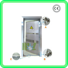 Lead lined door | x-ray stainless steel lead door - MSLLD01