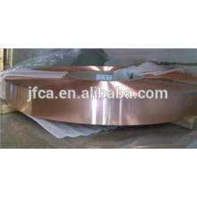 Élasticité bande de cuivre de béryllium pour le métal d'éclat métallique