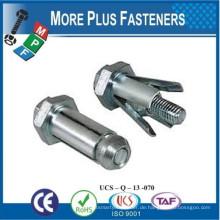Made in Taiwan Solid Messing beschichtet Edelstahl Fixe Metall Expansion Bolt