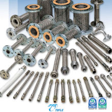 Manguera de metal flexible para construcción, uso industrial y tuberías generales. Fabricado por Tofle Co., Inc. Made in Japan