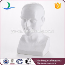 Wholesale man's head statue art ceramic european home decor