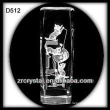 K9 Laser Image Inside Crystal Block