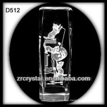 K9 Imagem de Laser dentro bloco de cristal