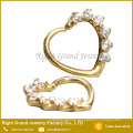 16G Cubic Zirconia Ear Daith Jewelry Gold Plated Prong Set CZ Cartilage Helix Cuff Earring