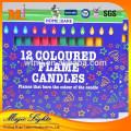 Vente chaude bougies d'anniversaire non parfumé spécial