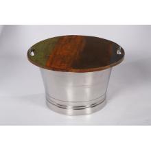 Reclaimed Wood & Steel Coffee Table