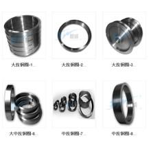 Máquina de desenho de fio médio / grande cerâmica revestida (Cr2O3 ou revestimento de carboneto de tungstênio) Anel de aço de guia de fio de cobre