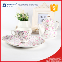 unique korean porcelain coffee tea set / lucky pink china tea pot set price