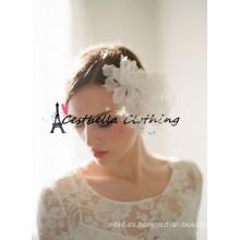 Corona de flores Bohemia blanco accesorios para el pelo de la boda Anillo de halo nupcial Simple Floral Headband