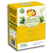 Saco de chá de chá de pirâmide de chá verde mangoflavored Premium Blends Organic & EU Compliant (FTB1503)