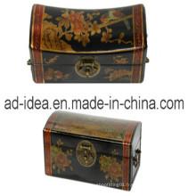 Boîte en bois classique de bannière de bijoux avec la serrure (SDF-89)