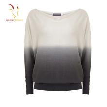 Terno de suéter solto de cashmere Batwing de senhoras