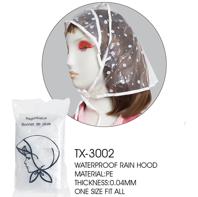 High quality Plstic fashion Rain Hood