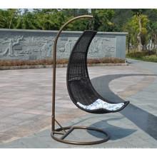 Ao ar livre do Rattan ferro nova cadeira balanço