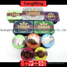 Jogo de microplaquetas acrílico do póquer (760PCS) Ym-Focp004