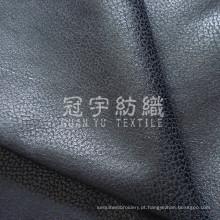 Tecido de couro artificial bronzeado para estofados