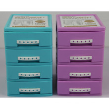Two Colors 4 Layer Plastic Cabinet for Household