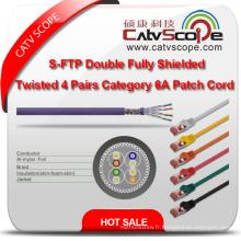 Structure Câblage S / FTP double blindé Twisted 4 paires Catégorie 6A Patch Cord