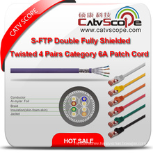 Structure Cabling S/FTP Double Fully Shielded Twisted 4 Pairs Category 6A Patch Cord