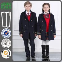 2016 moda Primiary baratos casaco de lã Uniforme School Factory
