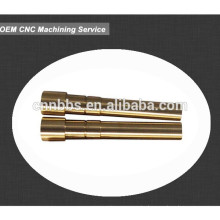 High precision machined C35200 brass metal shaft