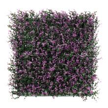 Blumenblumenblätter des dekorativen künstlichen Buchsbaumblatt-Plastikblattzauns im Freien