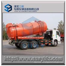 Camión tanque de vacío de acero inoxidable 15 M3 HOWO 6X4