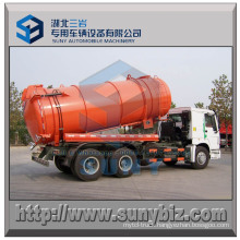 15 M3 HOWO 6X4 Stainless Steel Vacuum Tank Truck