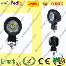 Luz de trabajo LED de 10 W, luz de trabajo LED de la serie Creee, luz de trabajo LED de 12 V CC para camiones