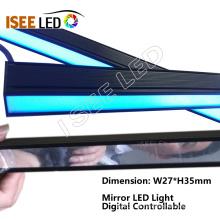 Mudança de cor dinâmica da lâmpada LED da superfície do espelho
