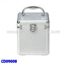 CD boîtier de haute qualité CD 60 disques en aluminium mignon vend en gros fabricant, Chine