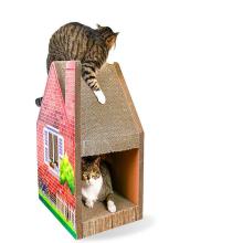Producto para mascotas Cartón de papel corrugado House Cat Toys