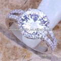 anillo de compromiso de nativos americanos anillo de bodas de cráneo de diamantes anillo chapado en oro blanco 18k