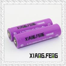 3.7V Xiangfeng 18650 2900mAh 20A Imr Wiederaufladbare Lithium-Batterie Beste wiederaufladbare Batterien Nippel Buttom Top