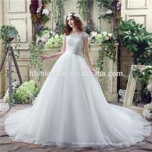 Venta de velocidad a través de la nueva gasa de matrimonio Bud seda de alta cintura arnés vestido de gasa corte de pescado vestido de novia
