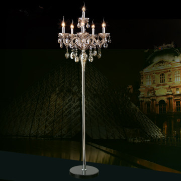 classical vintage crystal floor lamp