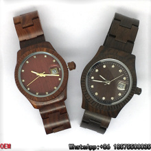Érable de qualité supérieure / rouge / ébène-bois montres à quartz montres Hl12