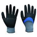 Перчатка работа синий нитриловое покрытие полностью и Сэнди нитриловые 3/4 с покрытием на ладони (N1572)
