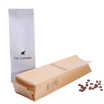 Kraft Paper Bags Dengan Valve Printed Coffee Bag