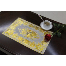 Tablemat barato y fuerte del PVC con el tamaño de oro del cordón los 30 * 46cm Fábrica al por mayor