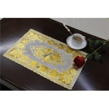 Дешевые и прочные ПВХ теплоизолирующая подставка с кружевом золото Размер 30*46см Фабрика оптом