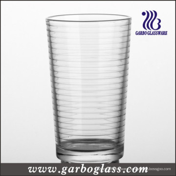 Ring Pattern Clear Hi-Ball Glass Tumbler (GB027612A)