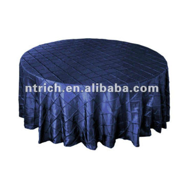 Wsterproof pintuck taffeta table cloth, table cover for restaurant